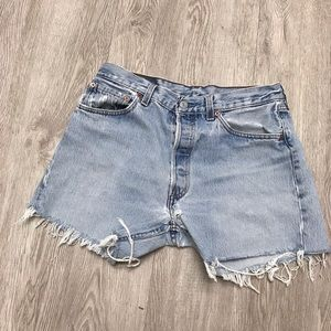 Levi's high rise cutoff jean shorts 33